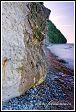 Jasmund, národní park, Německo, vodopádek na křídovém útesu