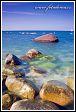 Příboj u pobřeží Baltu, Jasmund, národní park, Německo