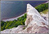 Jasmund, křídové útesy pod Viktoriinou vyhlídkou, Německo