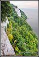 Königsstuhl z Viktoriiny vyhlídky v národním parku Jasmund