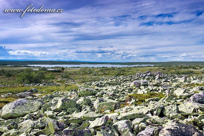Kamenitá krajina Fulufjälletského národního parku