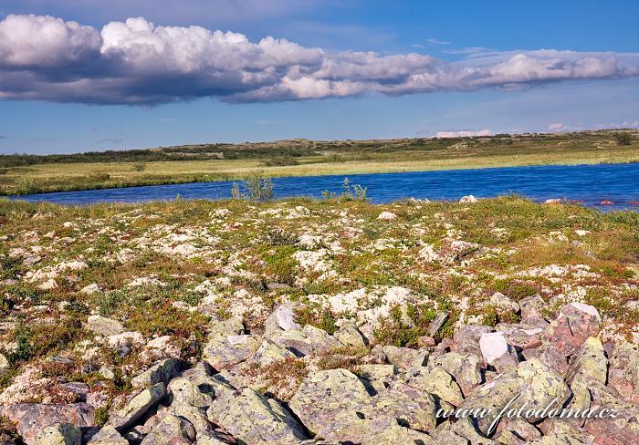 Krajina poblíž vodopádu Njupeskär v národním parku Fulufjället