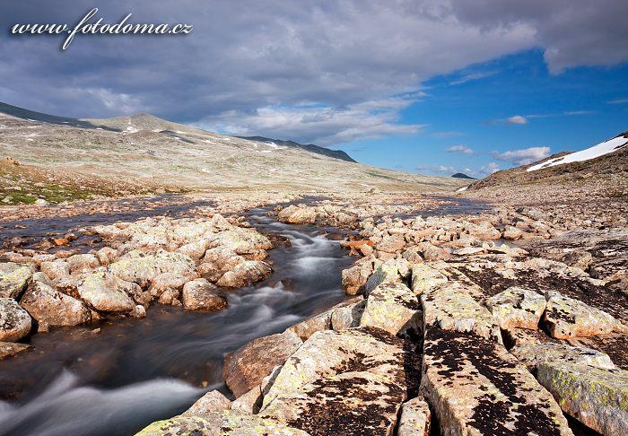 Údolí Raudiskardet. Národní park Saltfjellet-Svartisen, kraj Nordland, Norsko