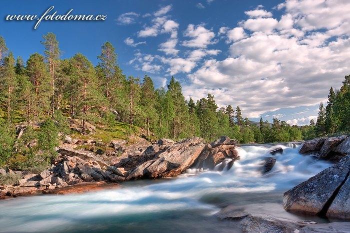 Řeka Lønselva, Norsko