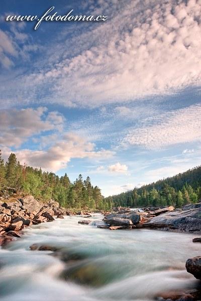 Tok řeky Lønselva, Norsko