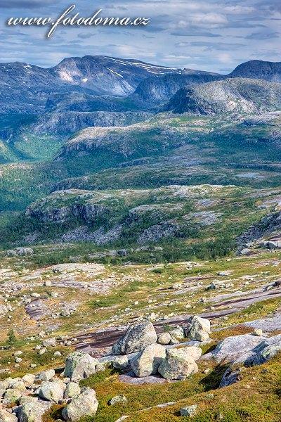 Hory, národní park Rago, kraj Nordland, Norsko