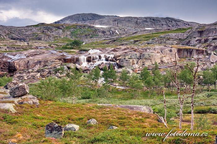 Rajská krajina, národní park Rago, kraj Nordland, Norsko