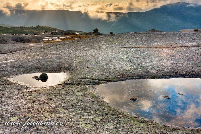 Jezírka, národní park Rago, kraj Nordland, Norsko