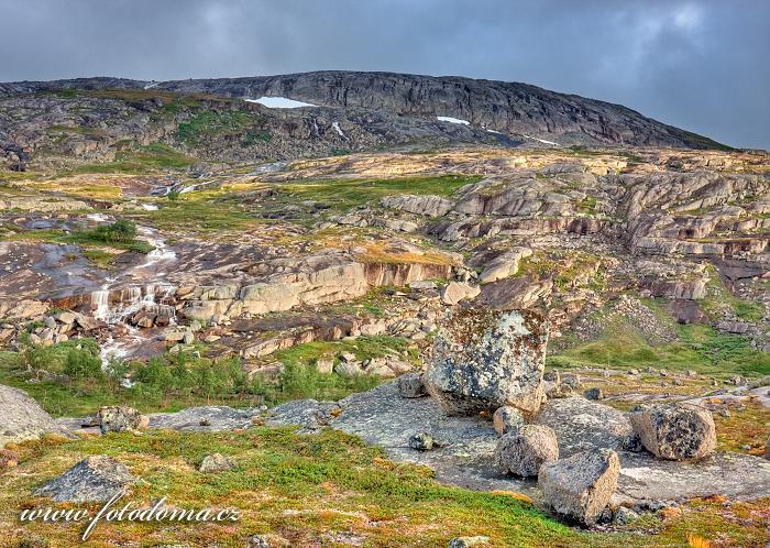 Kaskády, národní park Rago, kraj Nordland, Norsko