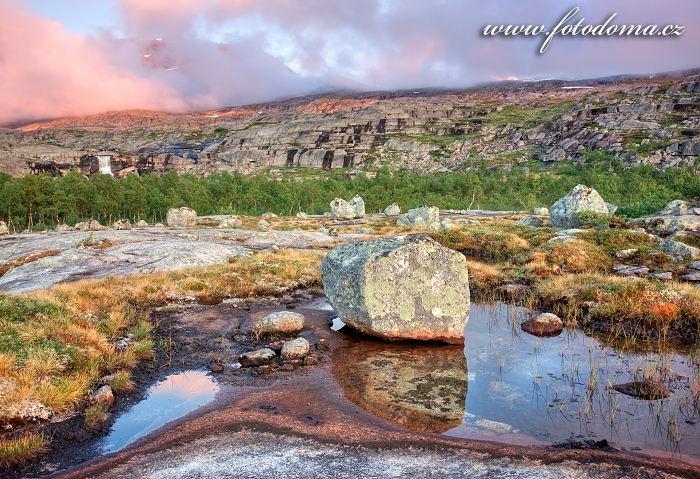 Krajina, národní park Rago, kraj Nordland, Norsko