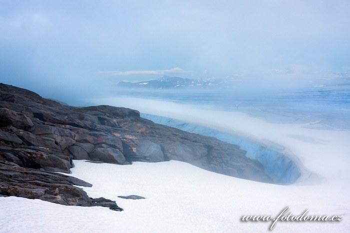 Hory národního parku Padjelanta z vrcholu Rago, národní park Rago, kraj Nordland, Norsko