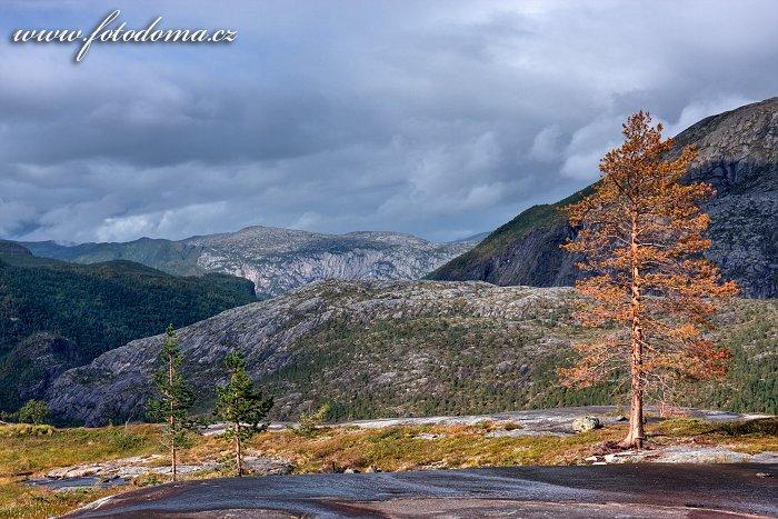 Krajina kolem jezera Litlverivatnet, národní park Rago, kraj Nordland, Norsko