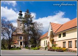 Kostel sv. Bartoloměje a obecní úřad, Rohatec