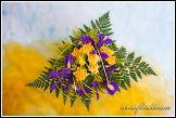 Kytice se žlutými růžemi