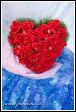 Květinové srdce z rudých růží