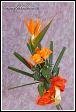 Květinové aranžmá se strelicií a růžemi
