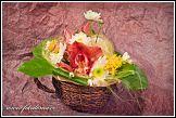 Květinová dekorace s orchidejemi