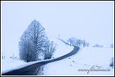 Zimní krajina s cestou