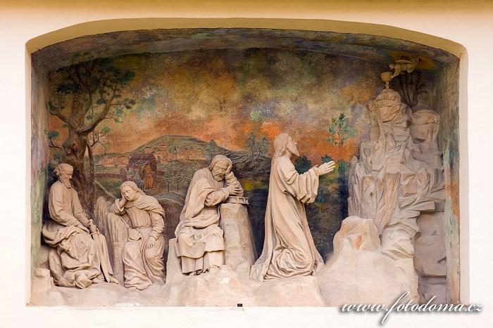 Venkovní výzdoba kostela Nanebevzetí Panny Marie cisterciáckého kláštera Porta Coeli v Předklášteří