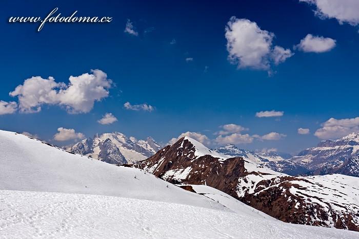 Marmolada a Monte Pore ze sedla Giau, Dolomity