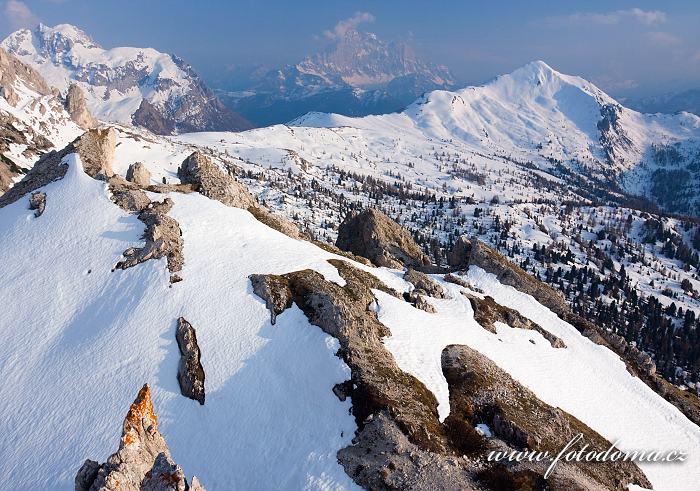 Monte Cernera, Monte Civetta a Monte Pore z vrcholu Col Galina, Dolomity
