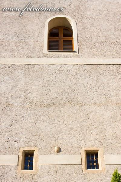 Zeď věže v Mohelně