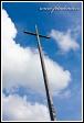 Misijní kříž, Benediktinský klášter na vrchu Swiety Krzys, masiv Swiety Krzys, Swietokrzyski národní park, Swietokrzyski Park Narodowy, Polsko