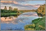 Řeka Biebrza u obce Osowiec-Twierdza, Biebrzanski národní park, Biebrzanski Park Narodowy, Polsko