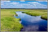 Řeka Biebrza u obce Jaglowo, Biebrzanski národní park, Biebrzanski Park Narodowy, Polsko