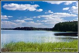 Zatoka Slupianska, jezero Wigry, Wigierski Park Narodowy, Wigierski národní park, Polsko