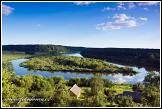 Soutok řeky Merkys a řeky Nemunas poblíž Merkinė, Národní park Dzūkijos, Litva