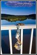 Visací zámky na zábradlí mostu v Merkinė, Litva