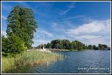 Jezero Galve u ostrovního hradu Trakai, Památka UNESCO, Národní park Trakų istorinis, Litva