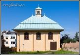 Kenesa (karaimský kostel) na ulici Karaimų, Trakai, Památka UNESCO, Národní park Trakų istorinis, Litva