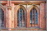 Okna kostela svaté Anny, Vilnius, Litva