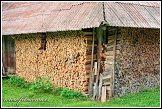 Zásoba dřeva ve Strazdai, Aukštaitijos národní park, Aukštaitijos nacionalinis parkas, Litva