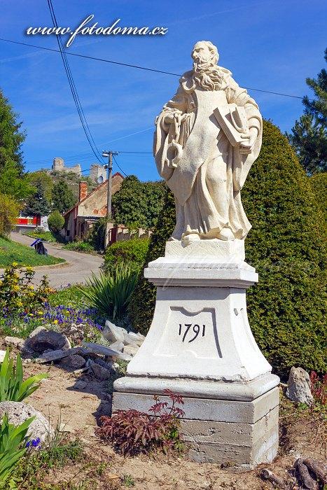 Socha sv. Leonarda, Klentnice, CHKO Pálava, okres Břeclav, Jihomoravský kraj, Česká republika
