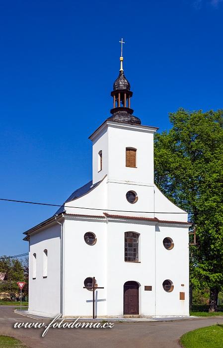 Římskokatolický filiální kostel Panny Marie v části Hukovice, Velká Kraš, okres Jeseník, Olomoucký kraj, Česká republika