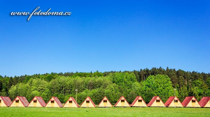 Letní tábor Černý potok, bývalý vojenský tábor, Velká Kraš, okres Jeseník, Olomoucký kraj, Česká republika
