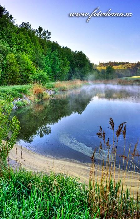 Retenční nádrž u střelnice, Vidnava, okres Jeseník, Olomoucký kraj, Česká republika