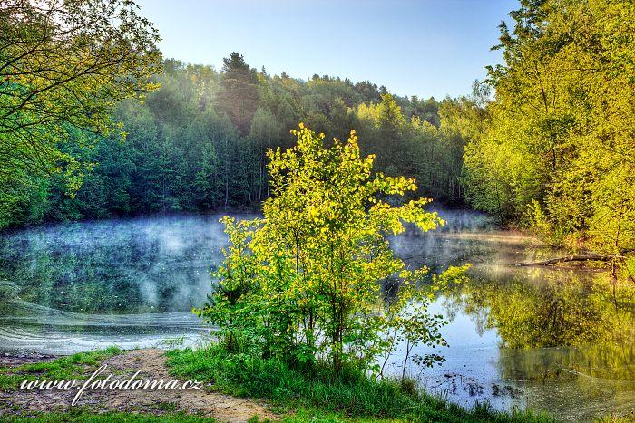 Kaolínový lom ve Farském lese, Stará Červená Voda, okres Jeseník, Olomoucký kraj, Česká republika