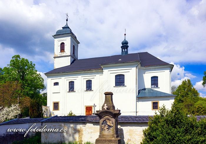 Kostel svatého Linharta, Vysoké Žibřidovice, část obce Hanušovice, okres Šumperk
