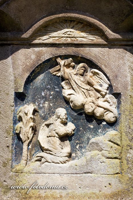 Podstavec kříže u kostela svatého Linharta, Vysoké Žibřidovice, část obce Hanušovice, okres Šumperk