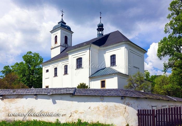 Kostel svatého Linharta, Vysoké Žibřidovice, část obce Hanušovice, okres Šumperk, Olomoucký kraj, Česká republika