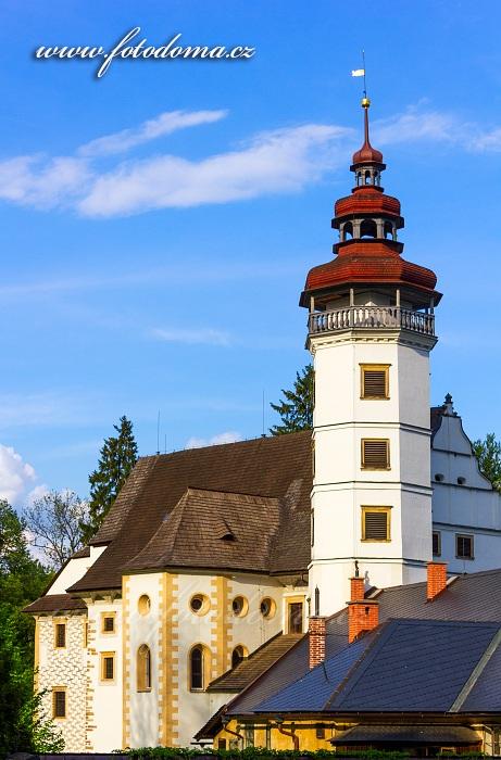 Věž zámku se zámeckou kaplí, Velké Losiny
