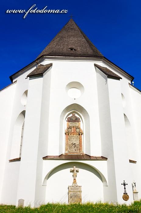 Reliéf Křest Ježíše Krista v závěru presbytáře , kostel svatého Jana Křtitele, Velké Losiny