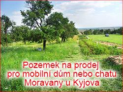 Pozemek na prodej pro mobilní dům nebo chatu Moravany u Kyjova