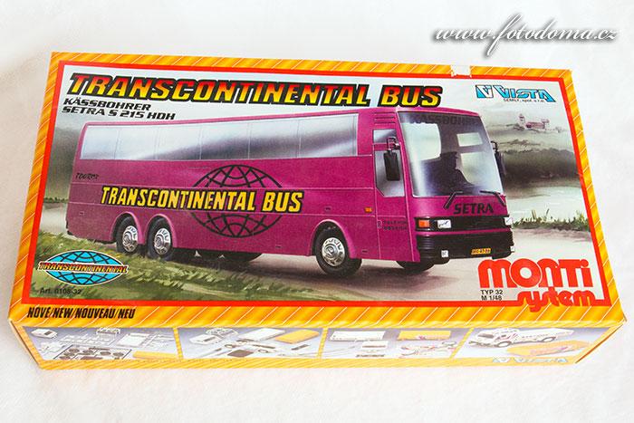 Stavebnice Monti 32 Transcontinental autobus Setra