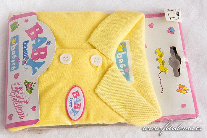 Oblečky Baby Born žlutá košile
