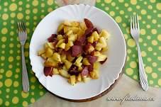 Opečené brambory s uzeninou